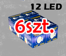 GU10 12 SMD Lamp -  pure white x 6